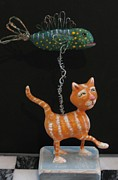 Kitty Sculptures - Wishful Thinking by Cathi Doherty