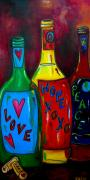 Hope Paintings - Wishful Wine by Patti Schermerhorn