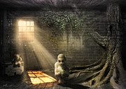 Creepy Digital Art Prints - Wishing Play Room Print by Svetlana Sewell