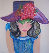 Hats Pastels - Wishing You Were Here by Lori  Lovetere