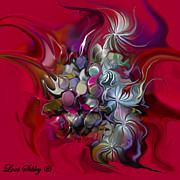 Lavenders Digital Art - Wispy Burgandy by Loxi Sibley
