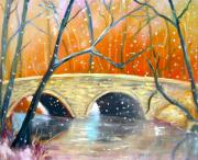 Snowfall Paintings - Wissachickon Winter by Marita McVeigh
