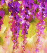 Wisteria Mixed Media Prints - Wisteria Dreams Print by Zeana Romanovna