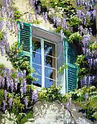 Windows Pastels - Wisteria in Provence by Jeanne Rosier Smith
