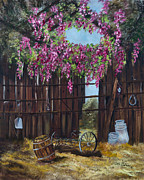 So.west Barns Prints - Wisteria Print by Jan Holman