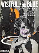 Ruth Etting Posters - Wistful and Blue Poster by Mel Thompson