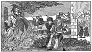 Discrimination Photo Prints - Witch Burning, 1555 Print by Granger