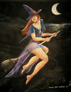 Halloween Pastels - Witch by Larry Whitler