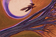 Witches Broom Prints - Witches Branch purple Print by First Star Art