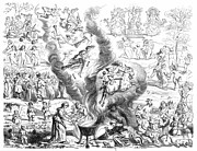 Witch Framed Prints - Witches Sabbath, 1460 Framed Print by Granger