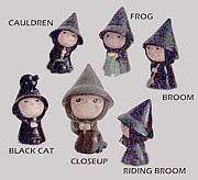 Halloween Sculptures - Witches by Winifred Ann Weishampel