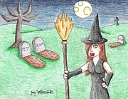 Graveyard Drawings - WitchiePoo by Jayson Halberstadt