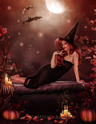 Bats Digital Art - Witchy Woman by Jessica Allain