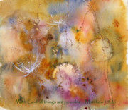 Hope Paintings - With God all things are possible by Anne Duke