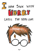 Lightning Drawings Prints - With Harry Until The Very End Print by Jera Sky