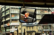 Taxi Cab Framed Prints - With Heart Framed Print by Dean Harte