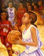 Basketball Players Painting Prints - With These Hands Hope Print by Carol Allen Anfinsen