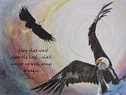American Eagle Paintings - ...with Wings As Eagles by Almeta LENNON