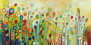Green Painting Originals - Within by Jennifer Lommers