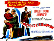 1946 Movies Posters - Without Reservations, Claudette Poster by Everett