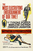 Films By Billy Wilder Framed Prints - Witness For The Prosecution, From Top Framed Print by Everett