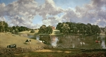 Swans Paintings - Wivenhoe Park by John Constable