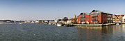 Quayside Prints - Wivenhoe waterfront panorama Print by Gary Eason