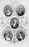 First Ladies Prints - Wives Of Founding Fathers Print by Granger