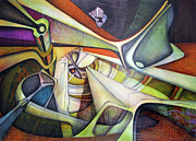 Latin American Paintings - WL1972NY001 The Arrival of Light 26.6 x 37.6 by Alfredo Da Silva