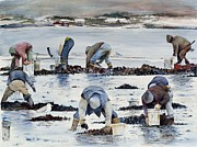Boston Paintings - Wnter Clam Diggers by Dan McCole