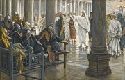 Chair Painting Metal Prints - Woe unto You Metal Print by Tissot