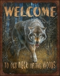 Wolf Painting Posters - Wold Neck of the Woods Poster by JQ Licensing
