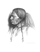 Blackfoot Drawings Posters - Wolf Child Poster by Lee Updike