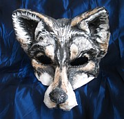 Mardi Sculptures - Wolf Fairytale Mask by Julia Cellini Cellini