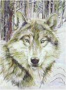 Fitzsimons Art - Wolf head by Morgan Fitzsimons