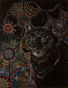 Trippy Paintings - Wolf by Schehera VanDyk