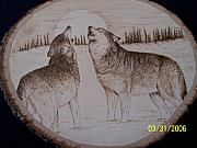 Wolf Pyrography - Wolf Song by Adam Owen