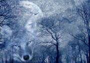 Wolf Print by Svetlana Sewell