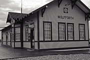 Best Sellers Prints - Wolfforth Train Depot Print by Melany Sarafis