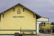 Best Sellers Prints - Wolfforths New Old Train Depot Print by Melany Sarafis