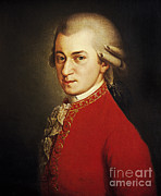 Music Time Posters - Wolfgang Amadeus Mozart, Austrian Poster by Photo Researchers