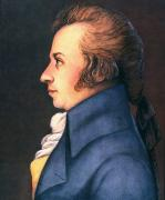 Cravat Photos - Wolfgang Amadeus Mozart by Granger