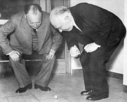 Inauguration Photos - Wolfgang Pauli and Niels Bohr by Margrethe Bohr Collection and AIP and Photo Researchers