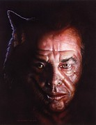 Portrait Painting Originals - WolfJack by Tim  Scoggins