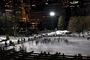 Manhattan Greeting Cards - Wollman Rink Central Park Manhattan by Henri Irizarri