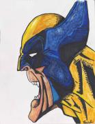 Superhero Drawings - Wolverine by Davis Elliott