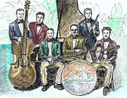 Big Bands Drawings - Wolverine Orchestra by Mel Thompson