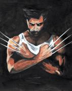 Muscles Paintings - Wolverine by Pet Serrano