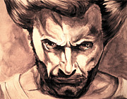 Wolverine Paintings - Wolverine. by Tatiana Minina