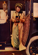 Ford Model T Car Posters - Woman and Antique Camera Poster by The  Vault